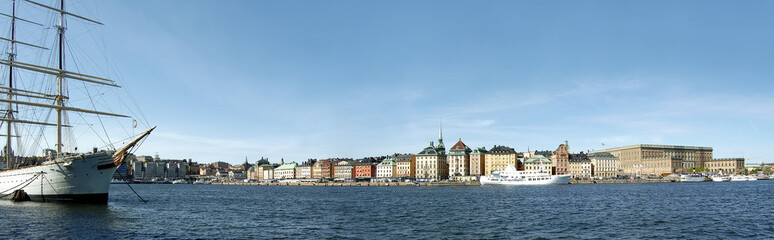 Panorama von Stockholm Gamla Stan