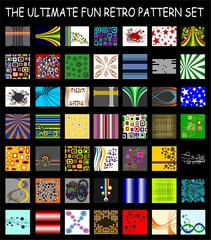 The Ultimate Fun Retro Pattern Set