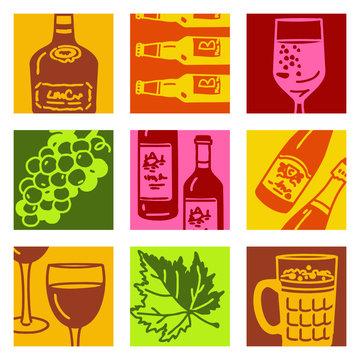 pop-art objects 2 - vin & alcool