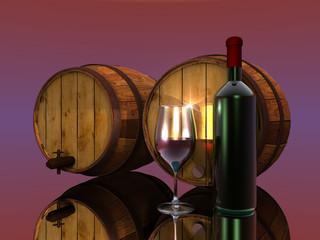 le vin et les tonneaux