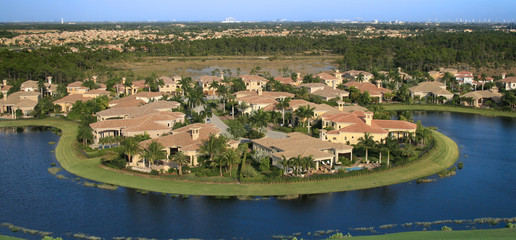 Aerial Photograph of a Florida Neighborhood