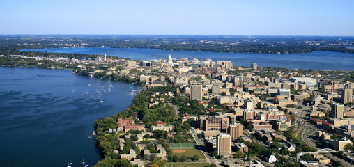 UW-Madison Campus with State Capitol in Background