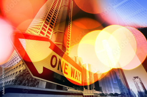Fotobehang Abstract сщдщкагд background of Downtown Los Angeles