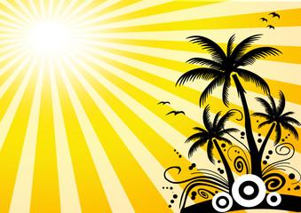 Insel mit Sonne