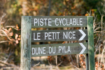 signalisation sur la piste cyclable