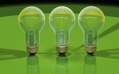 Light bulbs 3d