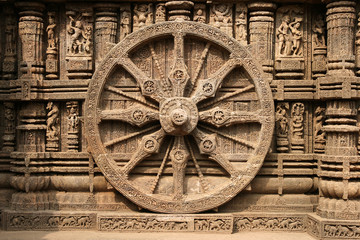 Ancient Hindu Temple at Konark, Orissa, India. 13th Century AD