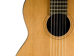 Closeup. Classical guitar.