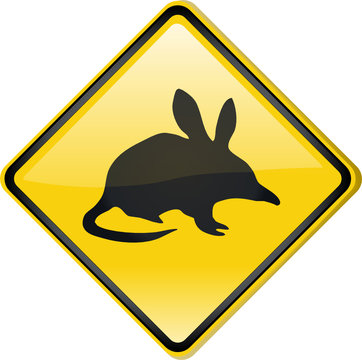 Road sign - Bilby