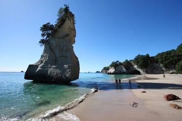 In de dag Nieuw Zeeland New Zealand - Cathedral Cove, Coromandel