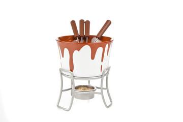 Fondue set isolated on a white background