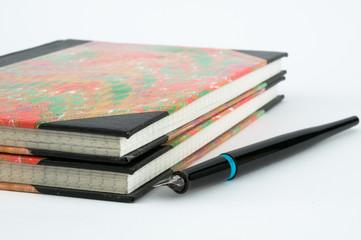 Marmorierte Notizbücher