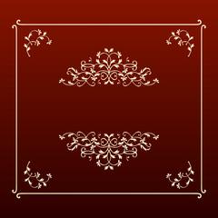 Elegant golden floral frame