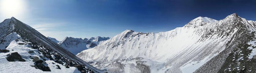 Eastern Sayan mountains. Altai.
