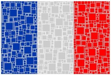 Printed roller blinds Pattern Mosaico della bandiera francese