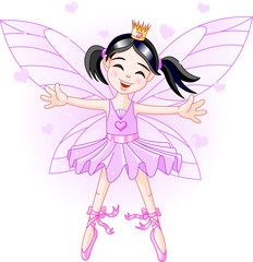 Foto auf Gartenposter Die magische Welt Little violet fairy