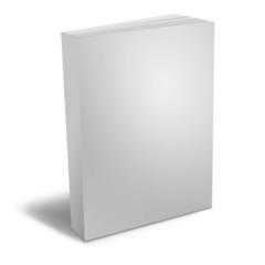 3d render of books on white background