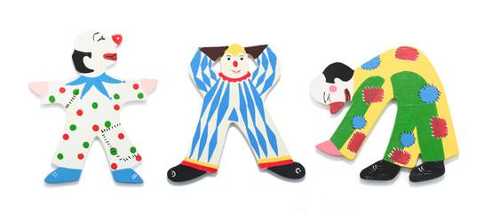 Wooden Clown Figures