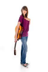 Attractive Teen girl guitar