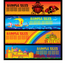 Fairy tale banners