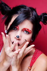 Minnie mouse make-up