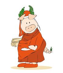 Dante Alighieri pig