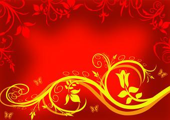 Ornament mit Blumen als Design