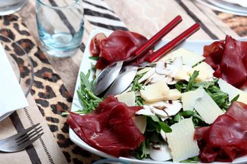 bresaola,rughetta e parmigiano