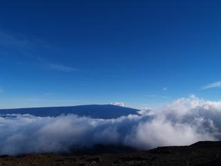 Sea of cloud from Mauna Kea