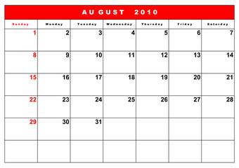 English calendar 10