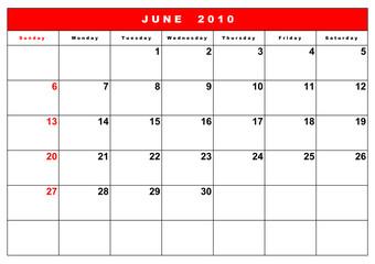 English calendar 5