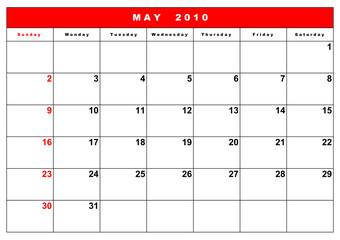 English calendar 4