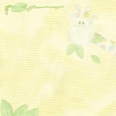 fabric background with giraffe