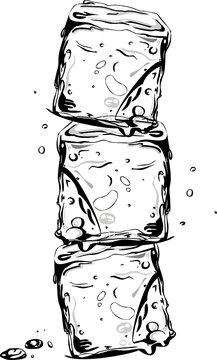 Eiswürfel, ice cube