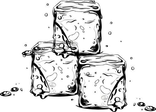 Eiswürfel, ice cubes