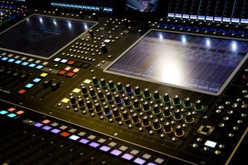 Music Mixer desk at he Concert