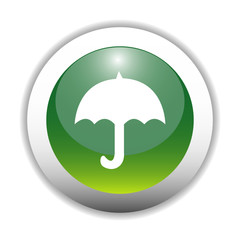 Glossy Umbrella Sign Button
