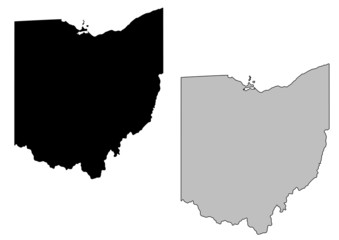 Ohio vector map