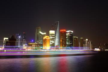 Economic Center of China - Night View of Shanghai