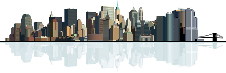 Panorama of the big city. Urban background.