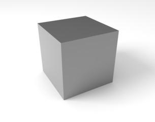 Cube on white backdrop