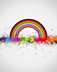 Color paint splashes background