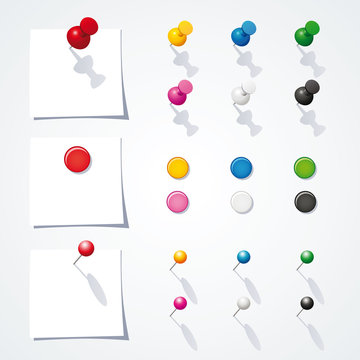 Vector push pin collection