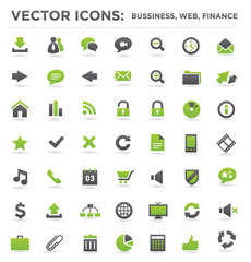 vector business web finance icons