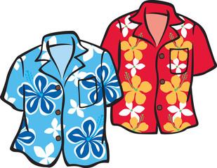Pair of Hawaiian Aloha Shirts