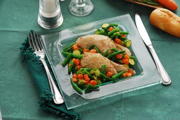 Pollo alle verdure - Secondi di carne del Veneto