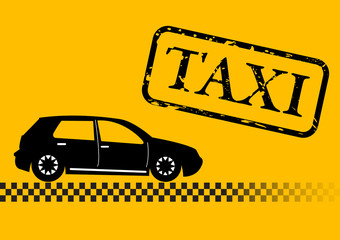 Abstract urban taxi car vector illustration