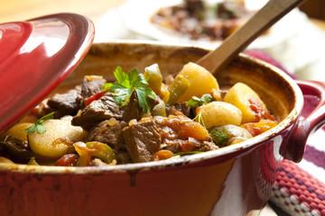 Goulash in a Red Crock Pot