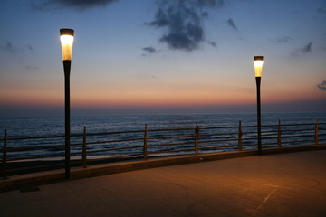 tramonto e luci