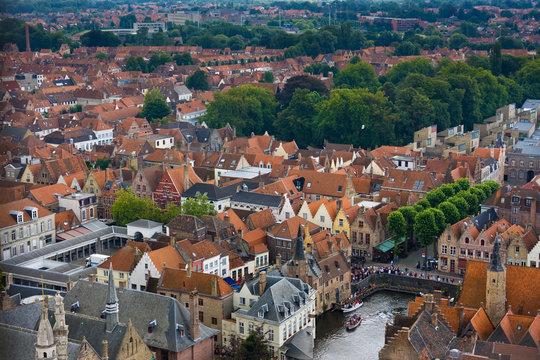 Die Altstadt von Bruegge, Belgien